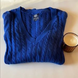 American Eagle Blue Cable knit Sweater sz Medium